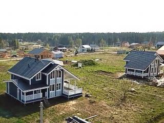 Каркасные дома КД 024 и КД 023 с террасой в КП «Сосновские Озера», Приозерский район