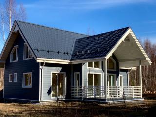 Каркасный дом по проекту КД 068 в ТСН Заозерное, Выборгский район