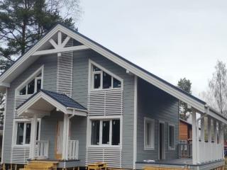 Строительство каркасного дома по проекту КД 057