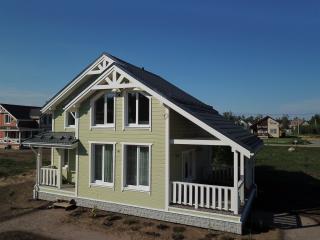 Каркасный дом по проекту КД 023 с террасой, Сосновские озёра