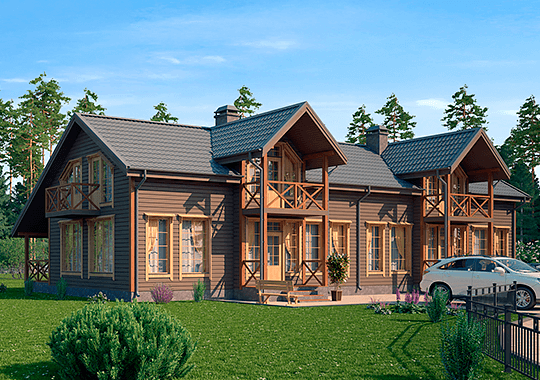 Дуплексы - дома на две семьи