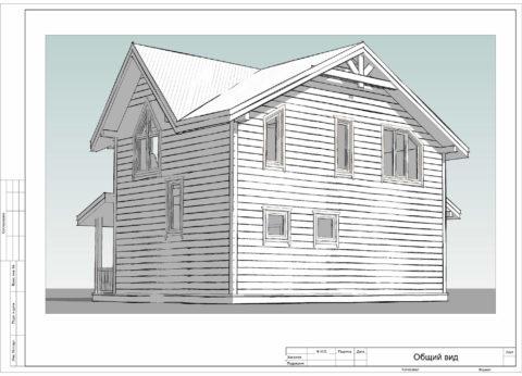Каркасный дом по проекту КД 029, Смоленский район, д. Щеченки - Общий вид
