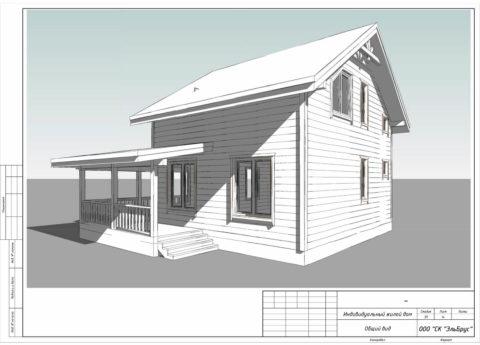Каркасный дом в комплектации «С отделкой» по проекту КД-056, г. Смоленск, СНТ «Эфир» - Общий вид