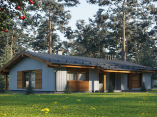 Каркасный дом ЭльБрус КД 077 - Общий вид